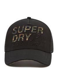 Superdry - Czapka z daszkiem SUPERDRY - Lineman Trucker Cap M9010017A Black 02A. Kolor: czarny. Materiał: materiał, bawełna, poliester