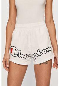 Białe szorty Champion sportowe, z nadrukiem