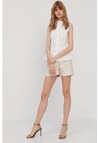 Pennyblack - Koszula bawełniana. Okazja: na co dzień. Typ kołnierza: kołnierzyk stójkowy. Kolor: biały. Materiał: bawełna. Wzór: gładki. Styl: casual
