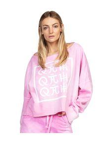 ROBERT KUPISZ - Różowa bluza ORIENT FLASHDANCE. Kolor: fioletowy, różowy, wielokolorowy. Materiał: bawełna. Wzór: nadruk