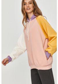 Różowa bluza Answear Lab wakacyjna, z długim rękawem