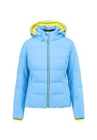 Kurtka narciarska Descente w kolorowe wzory, na zimę