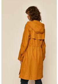Pomarańczowy płaszcz medicine na co dzień, casualowy, z kapturem