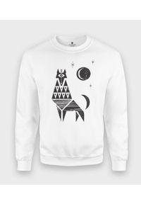 MegaKoszulki - Bluza klasyczna Modern Wolf. Styl: klasyczny