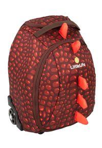 LittleLife walizka Children's Suitcase, 20l, dinozaur. Kolor: brązowy. Materiał: guma. Styl: elegancki