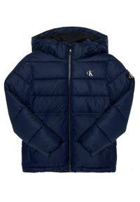 Niebieska kurtka puchowa Calvin Klein Jeans
