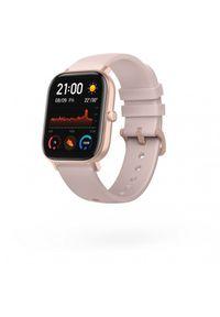 Różowy zegarek Huami smartwatch, elegancki
