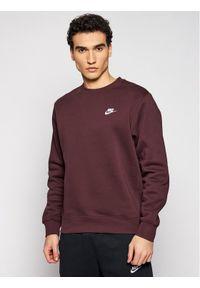 Nike Bluza Nsw Club BV2662 Bordowy Standard Fit. Kolor: czerwony