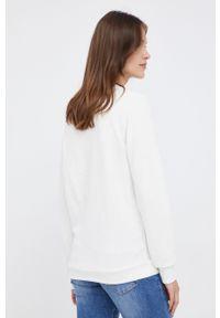 Pepe Jeans - Bluza Nana. Okazja: na co dzień. Kolor: beżowy. Materiał: materiał. Długość rękawa: raglanowy rękaw. Wzór: aplikacja. Styl: casual