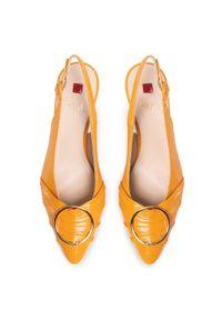 Pomarańczowe sandały HÖGL z aplikacjami