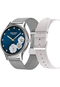 Smartwatch Pacific 18-4 Srebrny (PACIFIC 18-4 silver+white). Rodzaj zegarka: smartwatch. Kolor: srebrny