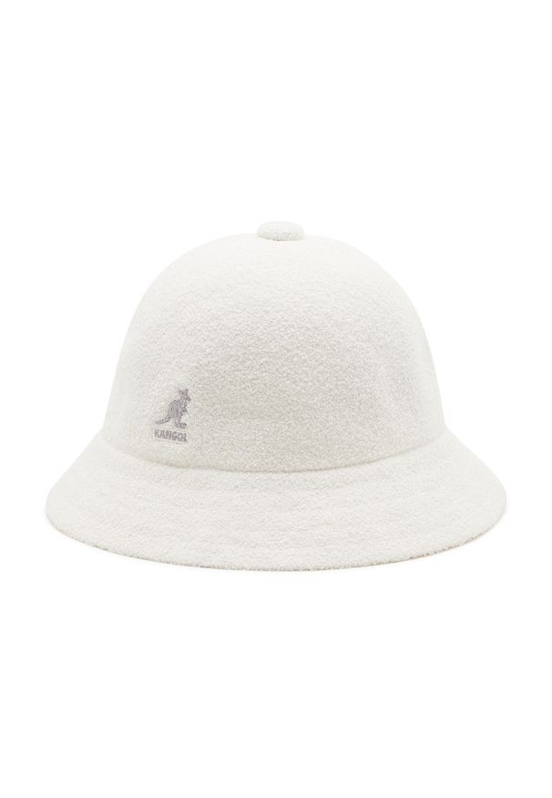 Kangol - Kapelusz KANGOL - Bucket Bermuda Casual 0397BC White WH103. Kolor: biały. Materiał: bawełna, poliester, materiał, akryl. Styl: casual