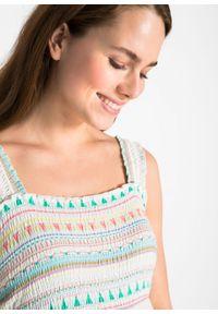 Biała sukienka bonprix na lato, moda ciążowa