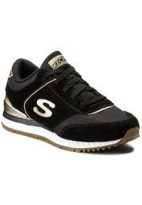 Czarne buty sportowe skechers na co dzień, z cholewką