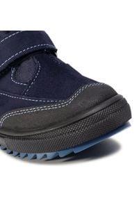 RenBut - Trzewiki RENBUT - 23-3345 Granat 1. Kolor: niebieski. Materiał: skóra, zamsz. Szerokość cholewki: normalna. Sezon: zima