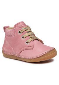 Froddo - Trzewiki FRODDO - G2130219-8 M Pink. Kolor: różowy. Materiał: skóra. Szerokość cholewki: normalna