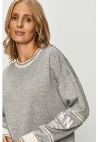 Szara piżama DKNY długa, z nadrukiem