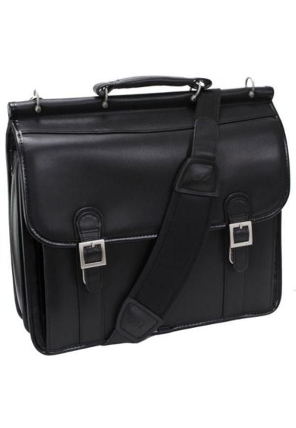 Torba na laptopa MCKLEIN Halsted 15.6 cali Czarny. Kolor: czarny. Styl: elegancki
