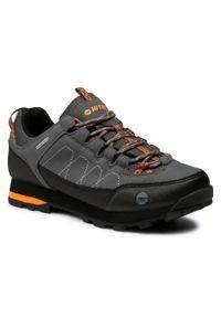 Szare buty trekkingowe Hi-tec trekkingowe