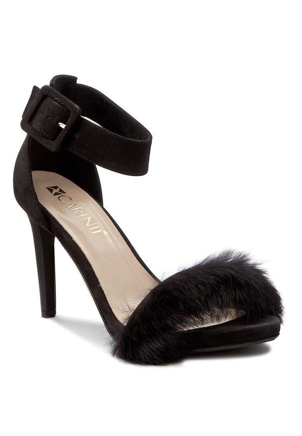 Czarne sandały Carinii eleganckie