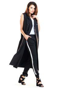 Czarna bluzka Awama długa