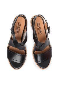 Czarne sandały Pikolinos na co dzień, casualowe