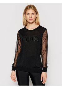 Liu Jo Sport Sweter TA1068 MA57I Czarny Regular Fit. Kolor: czarny. Styl: sportowy