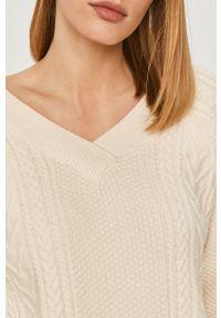 Kremowy sweter Answear Lab wakacyjny, z długim rękawem, długi