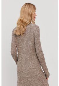 Samsoe & Samsoe - Samsoe Samsoe - Sweter. Okazja: na co dzień. Kolor: beżowy. Materiał: dzianina, bawełna. Długość rękawa: długi rękaw. Długość: krótkie. Styl: casual #3