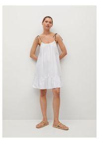 mango - Mango Sukienka letnia Bibi 17071080 Biały Relaxed Fit. Kolor: biały. Sezon: lato