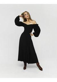 Madnezz - Sukienka Cubana Winter - czarna. Kolor: czarny. Materiał: wiskoza, elastan. Sezon: jesień, lato, zima. Typ sukienki: w kształcie A