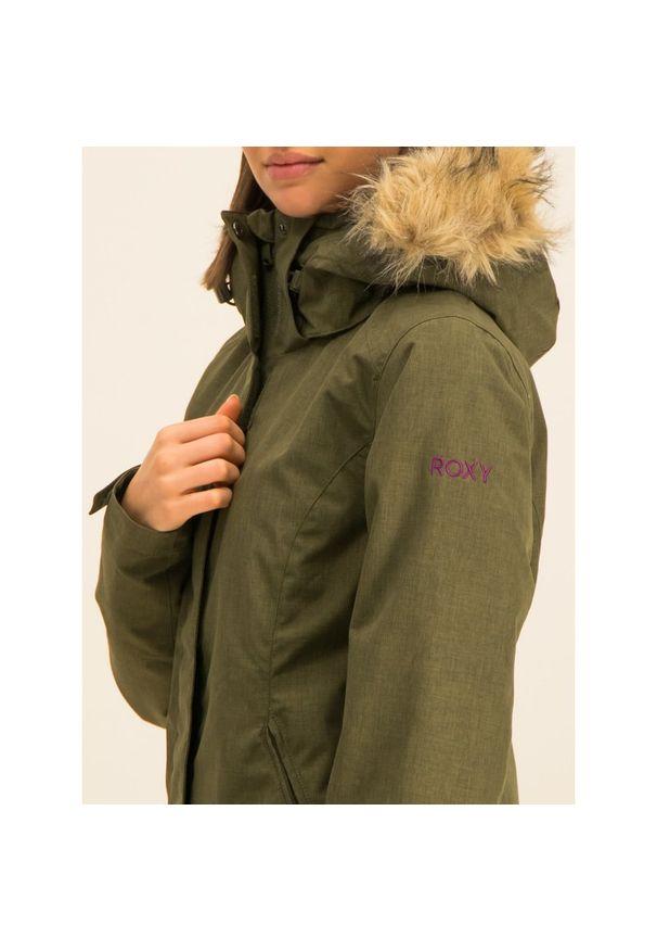 Zielona kurtka narciarska Roxy