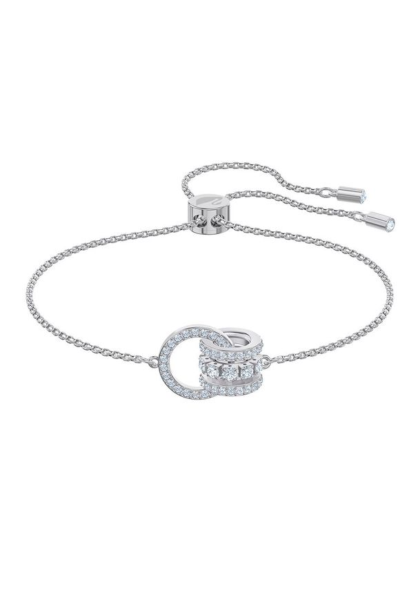 Srebrna bransoletka Swarovski srebrna, z kryształem, z aplikacjami