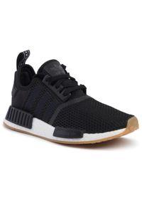 Czarne buty sportowe Adidas z cholewką, na co dzień, Adidas NMD