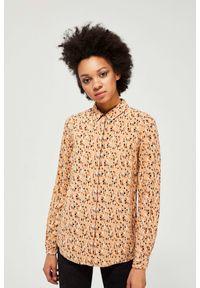 MOODO - Koszula z nadrukiem. Materiał: wiskoza. Długość rękawa: długi rękaw. Długość: długie. Wzór: nadruk