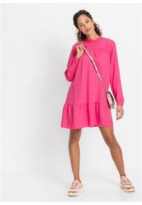 Różowa sukienka bonprix koszulowa