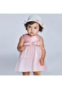 Mayoral Sukienka elegancka 1963 Różowy Regular Fit. Kolor: różowy. Styl: elegancki