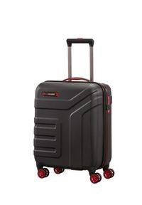 Travelite - TRAVELITE VECTOR Walizka mała 40L Schwarz 4-koła. Kolor: czarny. Materiał: materiał