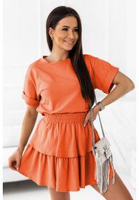 Pomarańczowa bluzka IVON