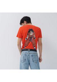 House - Koszulka z nadrukiem Dragon Ball Z - Pomarańczowy. Kolor: pomarańczowy. Wzór: nadruk