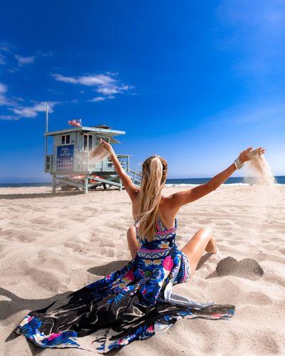 kolorowa tunika plażowa