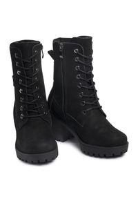 Czarne buty trekkingowe Oleksy z cholewką