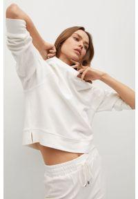 Biała bluza mango bez kaptura, na co dzień, z długim rękawem, casualowa