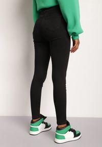 Renee - Czarne Spodnie Skinny Harphithea. Kolor: czarny