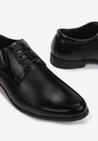 Born2be - Czarne Półbuty Zoma. Wysokość cholewki: przed kostkę. Nosek buta: okrągły. Zapięcie: sznurówki. Kolor: czarny. Materiał: skóra. Szerokość cholewki: normalna. Obcas: na obcasie. Styl: klasyczny, elegancki #3