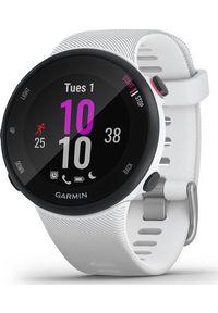 GARMIN - Zegarek sportowy Garmin Forerunner 45S Biały (010-02156-10). Kolor: biały. Styl: sportowy