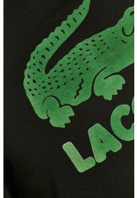 Czarna bluza nierozpinana Lacoste casualowa, na co dzień, z nadrukiem