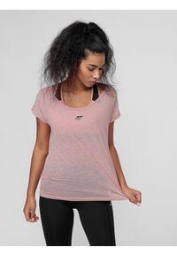 Różowa koszulka sportowa 4f do biegania