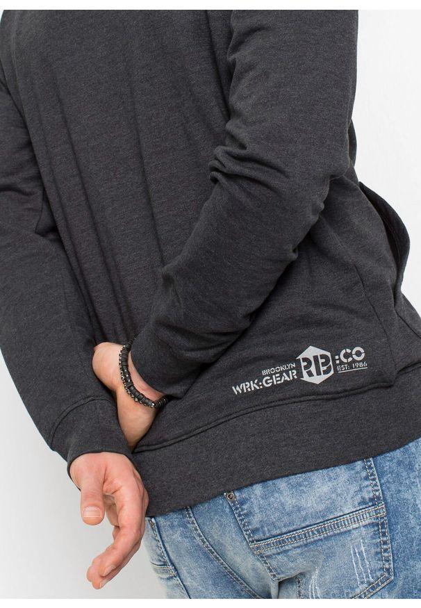 Czarna bluza bonprix z kapturem, melanż