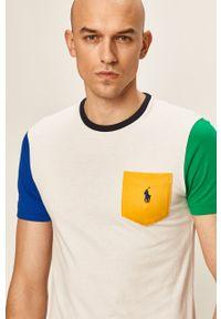 Biały t-shirt Polo Ralph Lauren z aplikacjami, polo